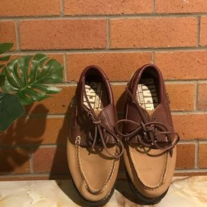 RIVERS LEATHER LACE-UP BOAT SHOE